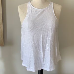 White sequin tank - Size Small (never worn)